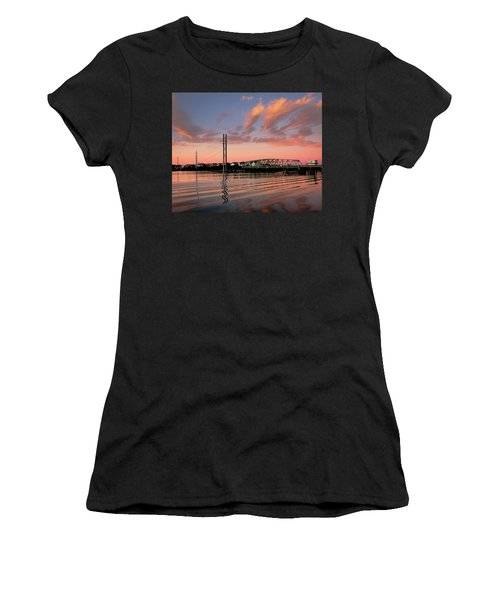 Swing Bridge At Sunset, Topsail Island, North Carolina Women's T-Shirt (Athletic Fit)