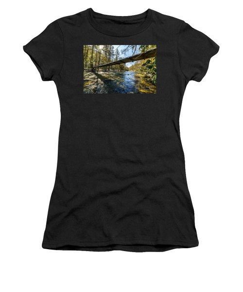 Swinging Bridge Back Fork Of Elk Women's T-Shirt