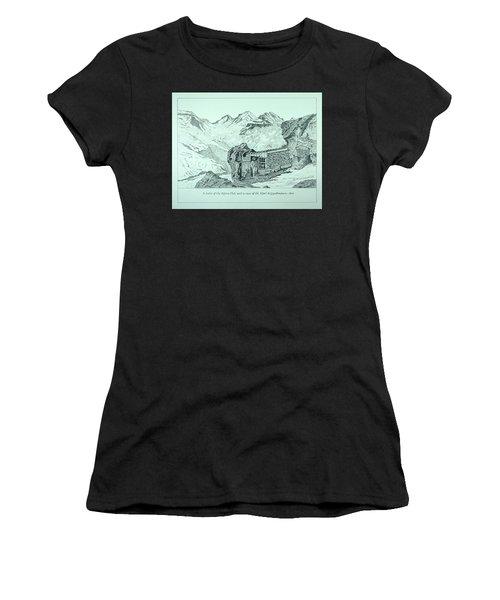 Swiss Alpine Cabin Women's T-Shirt (Athletic Fit)