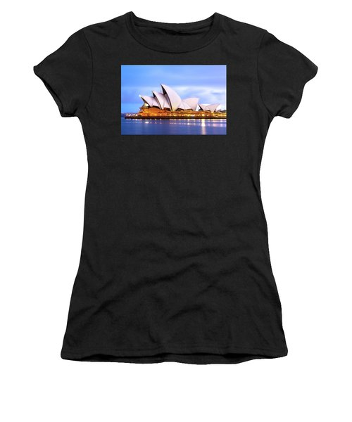 Sydney Opera House At Dawn Women's T-Shirt (Athletic Fit)