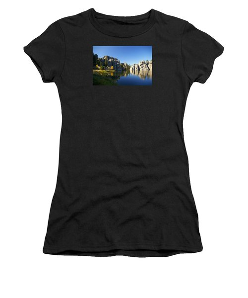 Sylvan Lake, Custer South Dakota Women's T-Shirt (Athletic Fit)