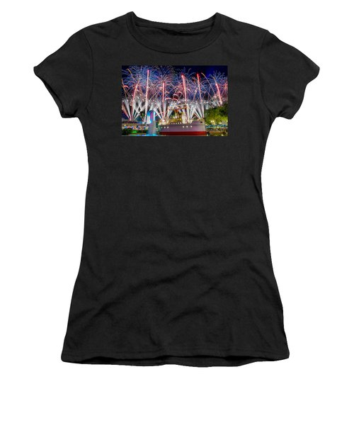 Symphony In The Stars As Seen Around Echo Lake Women's T-Shirt (Athletic Fit)