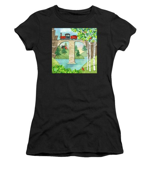 T Is For Train And Train Trestle Women's T-Shirt