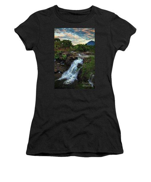 Tad Lo Waterfall, Bolaven Plateau, Champasak Province, Laos Women's T-Shirt (Athletic Fit)