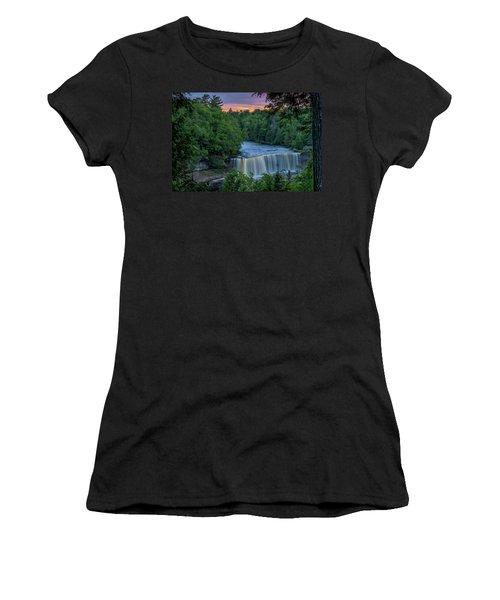 Tahquamenon Falls Sunset. Women's T-Shirt (Athletic Fit)