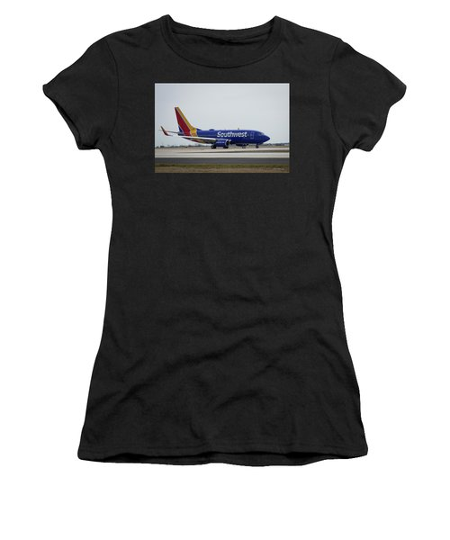 Take Off Southwest Airlines N7878a Hartsfield-jackson Atlanta International Airport Art Women's T-Shirt