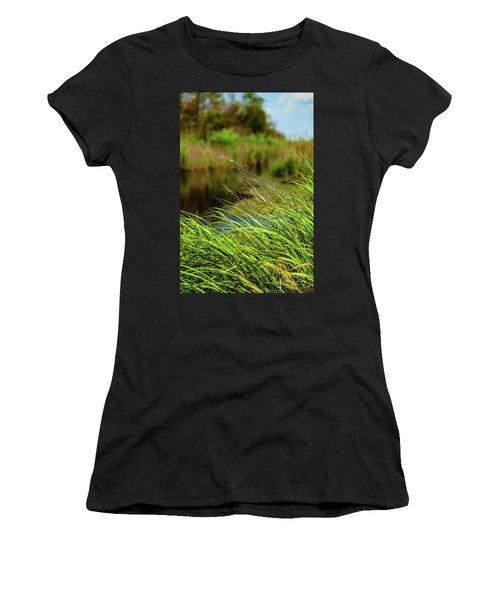 Tall Grass At Boat Dock Women's T-Shirt