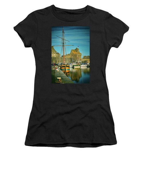 Tall Ship In Saint Malo Women's T-Shirt