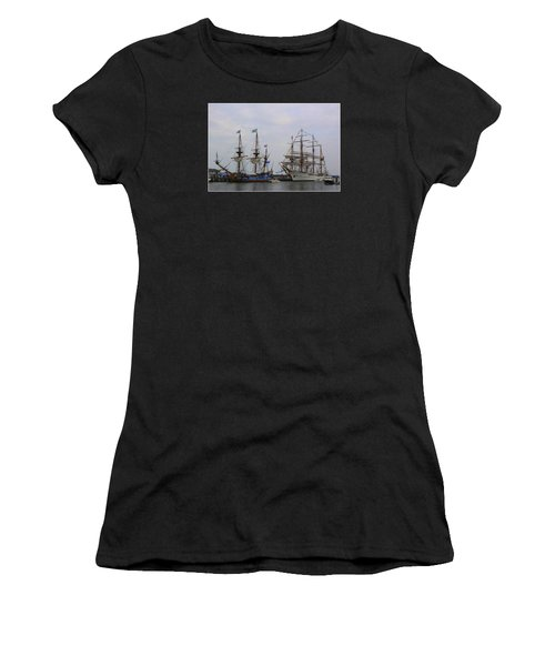 Historic Tall Ships Hermione And Sagres Women's T-Shirt (Athletic Fit)