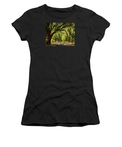 Tallahassee Canopy Road Women's T-Shirt (Junior Cut) by Carla Parris
