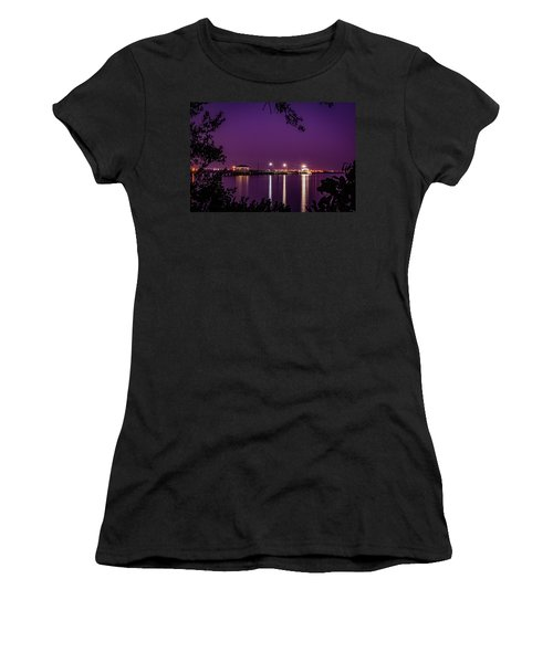 Tampa Bay Fishing Pier Women's T-Shirt (Athletic Fit)