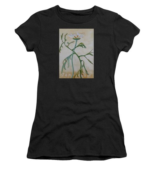 Women's T-Shirt featuring the painting Tanacetum by Ruth Kamenev