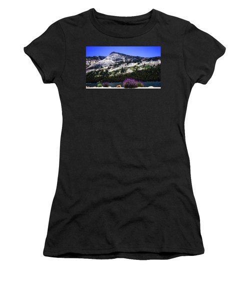 Tanaya Lake Wildflowers Yosemite Women's T-Shirt (Athletic Fit)