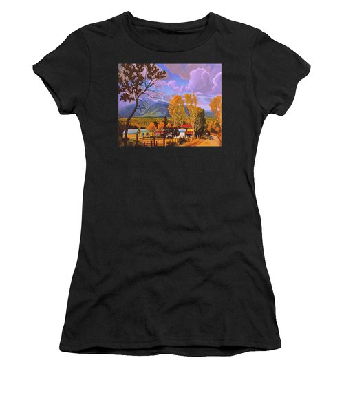 Taos Red Roofs Women's T-Shirt