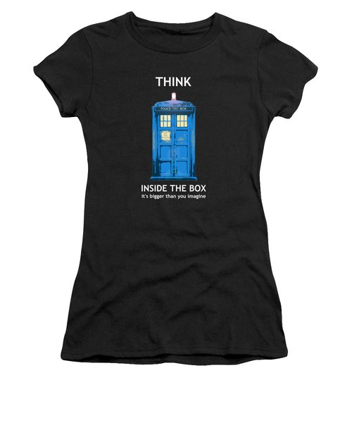 Tardis - Think Inside The Box Women's T-Shirt