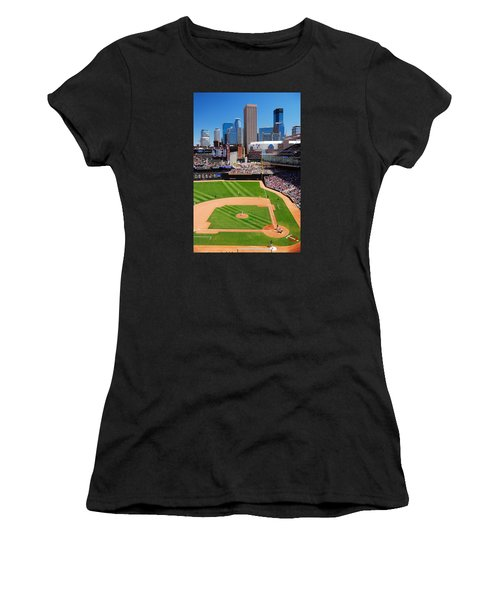 Target Field, Home Of The Twins Women's T-Shirt (Athletic Fit)