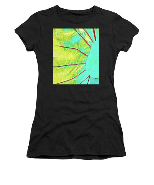 Taro Leaf In Turquoise - The Other Side Women's T-Shirt