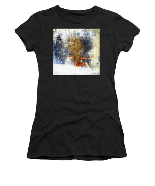 Women's T-Shirt featuring the digital art Tatoo Bird by Richard Ricci