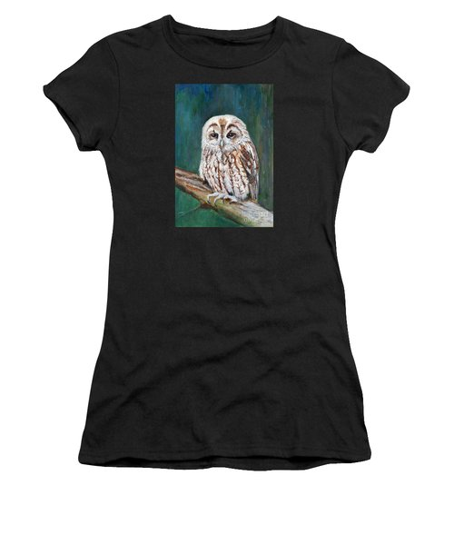 Tawny Owl Women's T-Shirt (Athletic Fit)