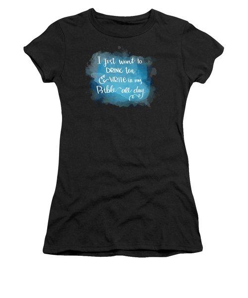Tea And Write Women's T-Shirt