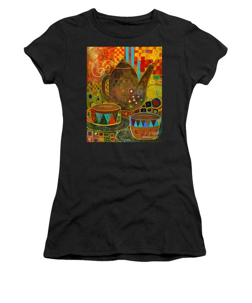 Tea Party With Klimt Women's T-Shirt (Athletic Fit)