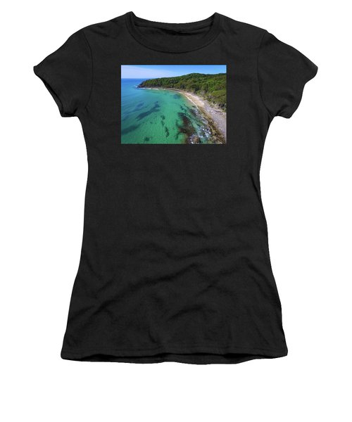 Women's T-Shirt (Athletic Fit) featuring the photograph Tea Tree Bay In Noosa National Park by Keiran Lusk