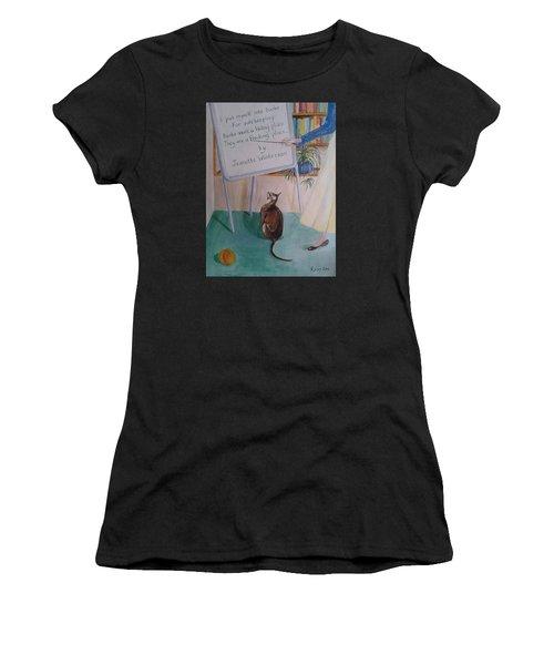 Teacher's Pet Women's T-Shirt (Junior Cut) by Veronica Rickard