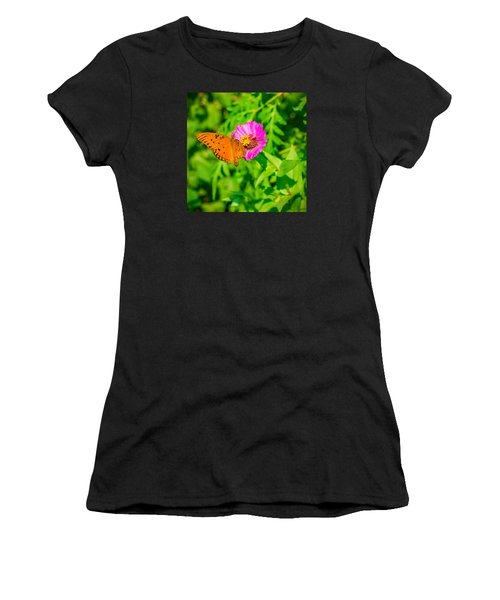 Teacup The Butterfly Women's T-Shirt (Athletic Fit)