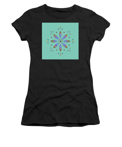 Teal Flower Women's T-Shirt
