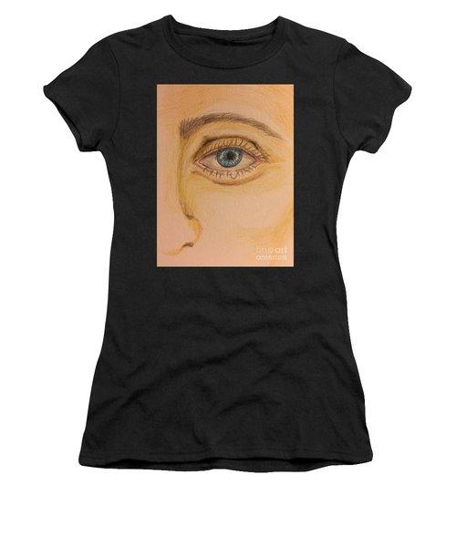 Tear Drop Women's T-Shirt (Athletic Fit)