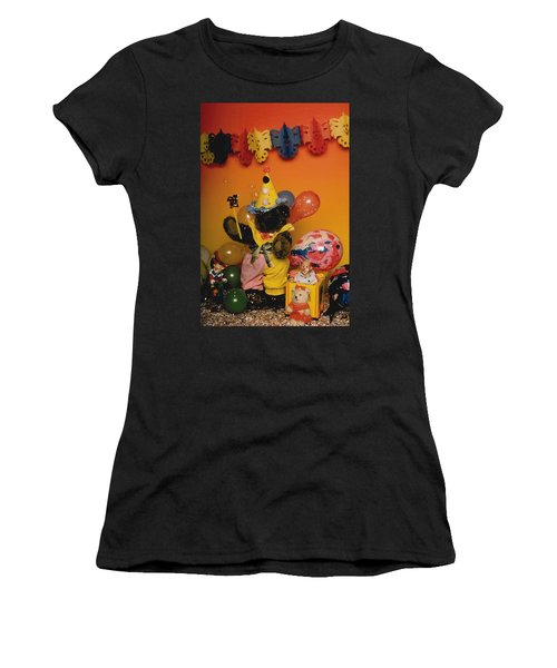 Teddy Bear Celebrates, Birthday Teddy Bear Women's T-Shirt (Athletic Fit)