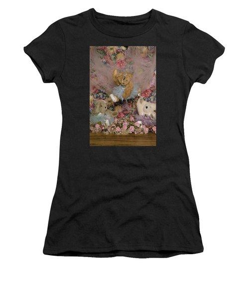 Teddy Bear Dancers Women's T-Shirt (Athletic Fit)