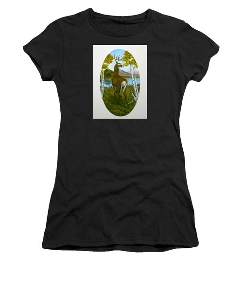 Teddy's Deer Women's T-Shirt (Athletic Fit)