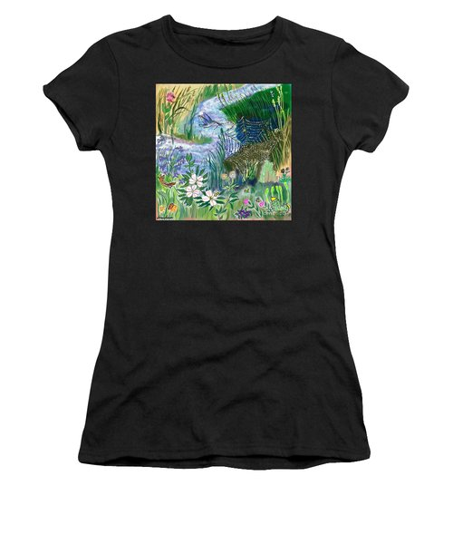 Teen Drawing -- Hummingbird Collecting Silk Women's T-Shirt (Athletic Fit)