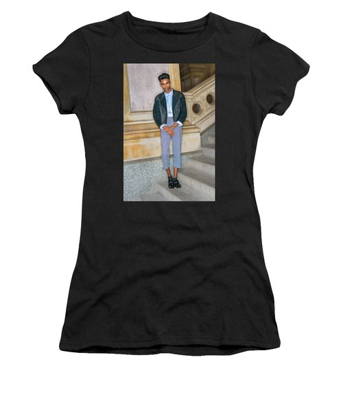 Women's T-Shirt (Athletic Fit) featuring the photograph Teenage Boy Fashion 1504267 by Alexander Image
