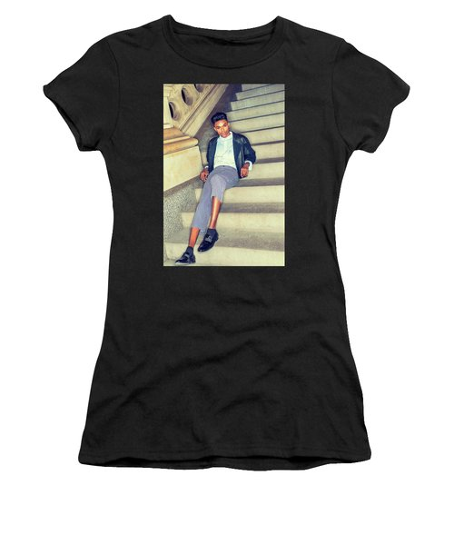 Women's T-Shirt (Athletic Fit) featuring the photograph Teenage Casual Fashion 15042616 by Alexander Image