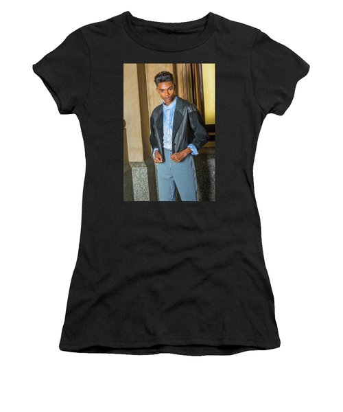 Women's T-Shirt (Athletic Fit) featuring the photograph Teenage Casual Fashion 15042628 by Alexander Image
