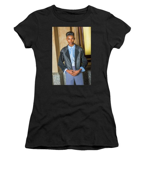 Women's T-Shirt (Athletic Fit) featuring the photograph Teenage Casual Fashion 15042629 by Alexander Image