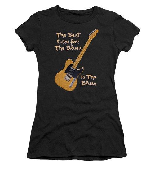 Tele Blues Cure Women's T-Shirt (Athletic Fit)