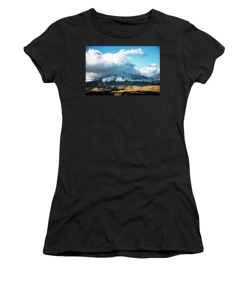 Telluride Colorado In The Fall Women's T-Shirt (Athletic Fit)