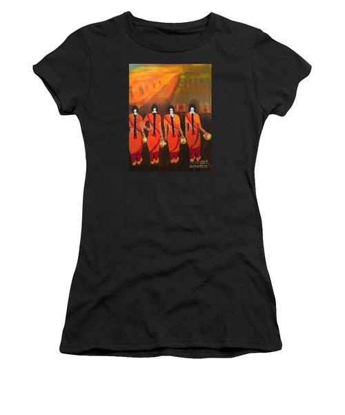 Temple Dancers Women's T-Shirt (Athletic Fit)