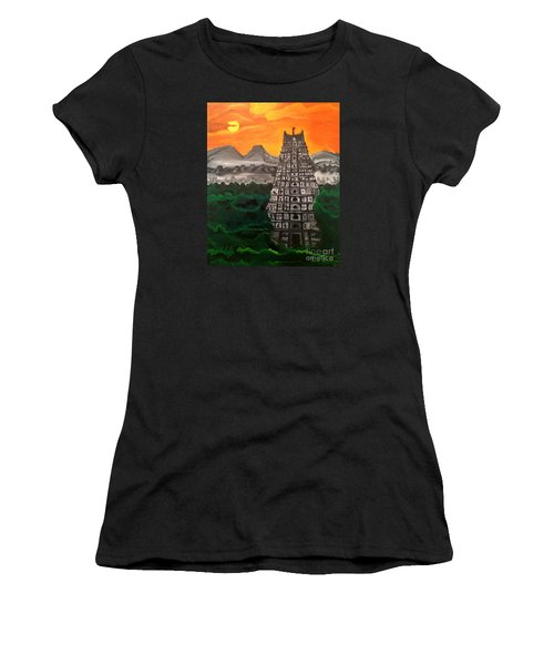 Temple Near The Hills Women's T-Shirt (Athletic Fit)