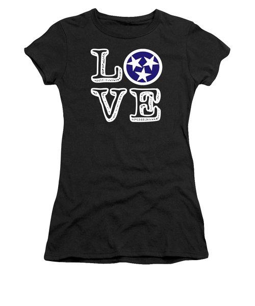 Tennessee Flag Love Women's T-Shirt
