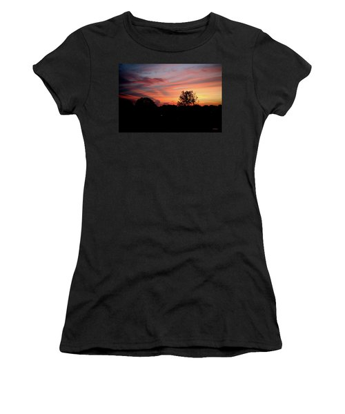 Women's T-Shirt (Athletic Fit) featuring the photograph Tennessee Sunset 305 by Ericamaxine Price