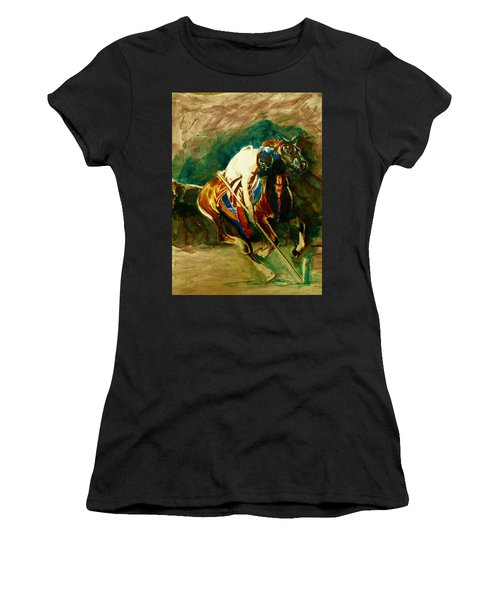 Tent Pegging Sport Women's T-Shirt (Athletic Fit)