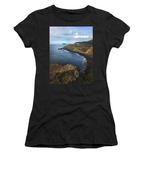 Terceira Island Coast With Ilheus De Cabras And Ponta Das Contendas Lighthouse  Women's T-Shirt