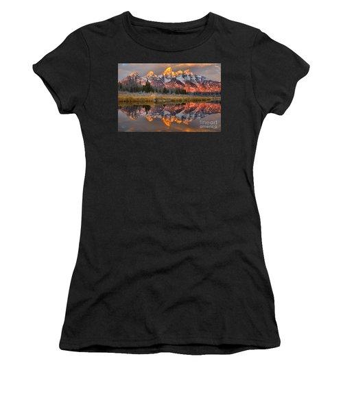 Teton Mountains Sunrise Rainbow Women's T-Shirt