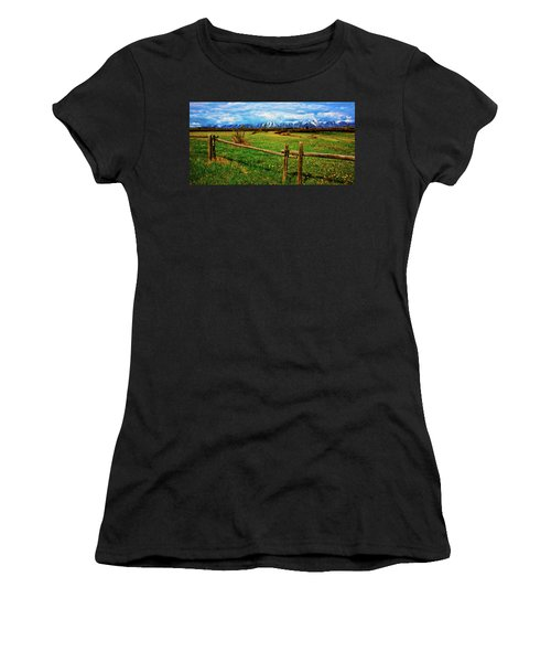 Women's T-Shirt (Athletic Fit) featuring the photograph Teton Park Spring by Norman Hall