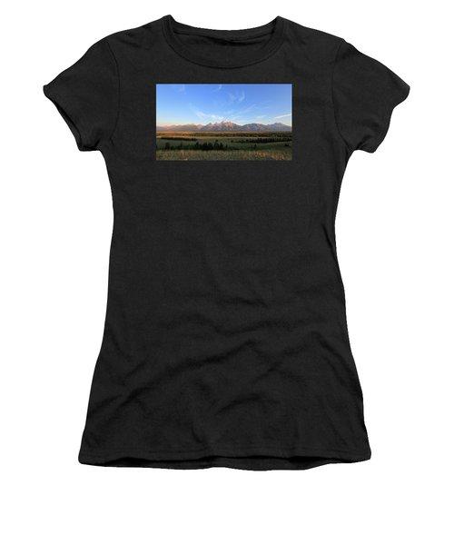 Teton Range After Sunrise Women's T-Shirt