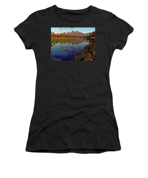 Teton Wildflowers Women's T-Shirt (Athletic Fit)